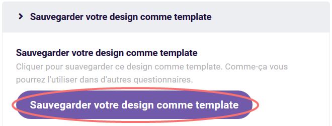 Design - sauvegarder comme template