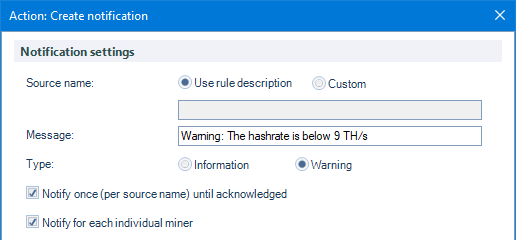 Rules - Detect mining issues and automate tasks : Awesome Miner