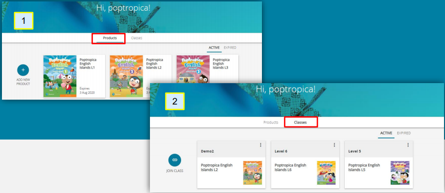 Poptropica English Island Portal: Registration and Join a Class