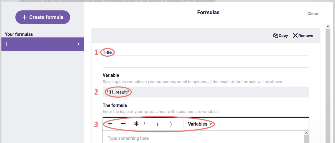 Create formulas