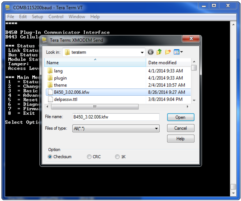 Solution 2000 & 3000 Update Firmware version on B450-M