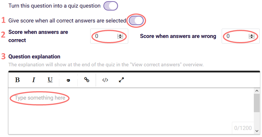 Make ranking a quiz question