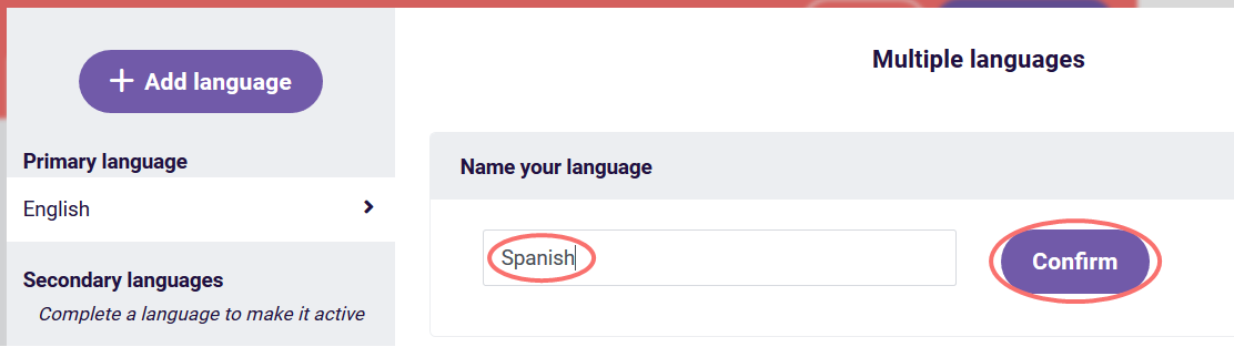 multiple languages - name language