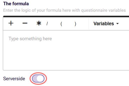 Serverside formulas