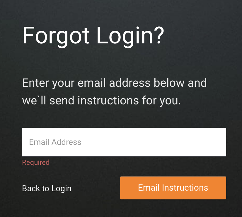 I Can't Access My Account/Forgot My Login Credentials