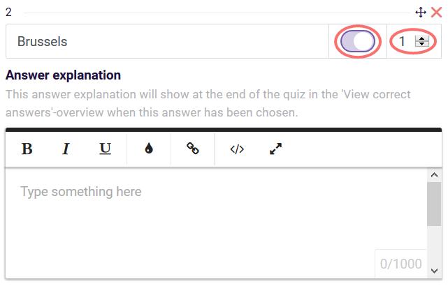 quiz scoring single answer scoring