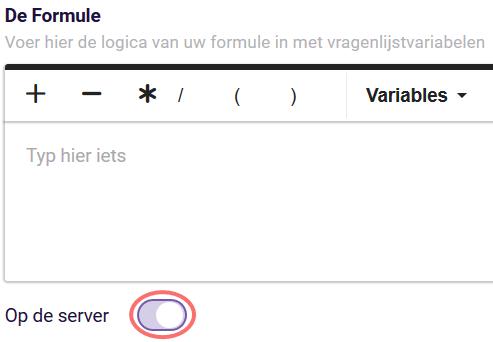 Formules - op de server