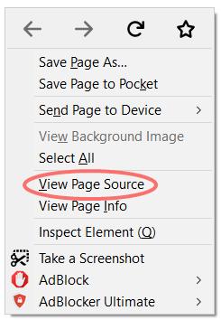 CSS PDF - view page source