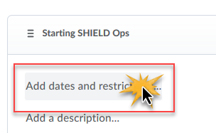 cursor over the Add dates and restrictions button