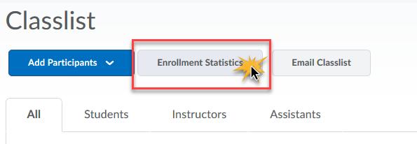 cursor over Enrollment Statistics to indicate click