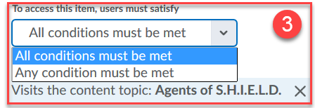 The users must satisfy selector
