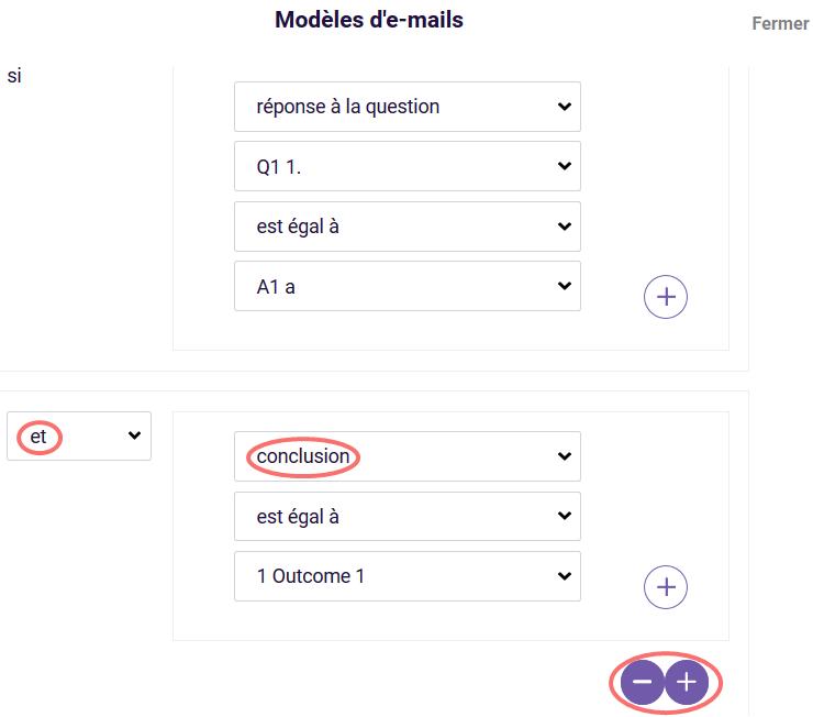 Modele d'e-mail avec conclusion