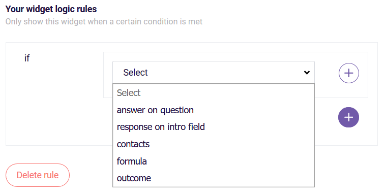 PDF Text widget criteria