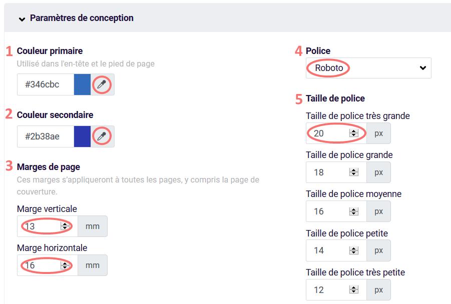 PDF - parametres de conception