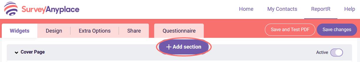 PDF-Add section