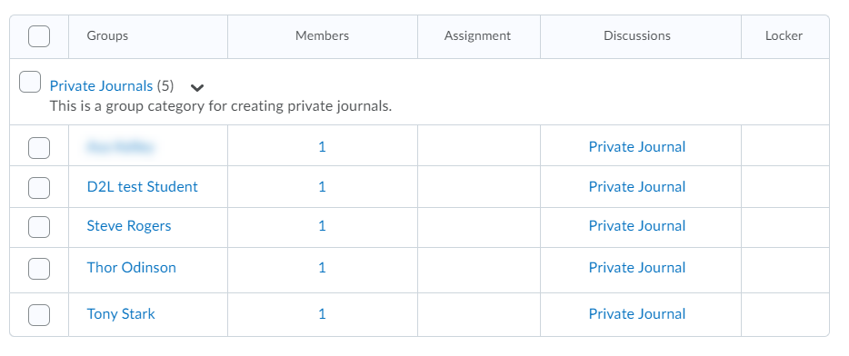 the group category you just created will have the same number of groups as there are students with each student being their own single user group