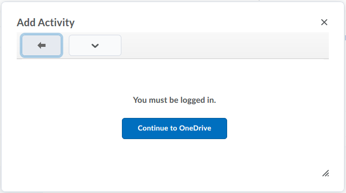 click Continue to OneDrive or skip to step 7 if you're already seeing your OneDrive files listed