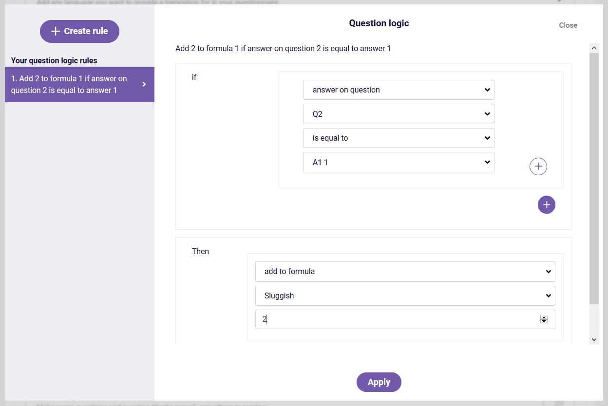 Formula and custom score example