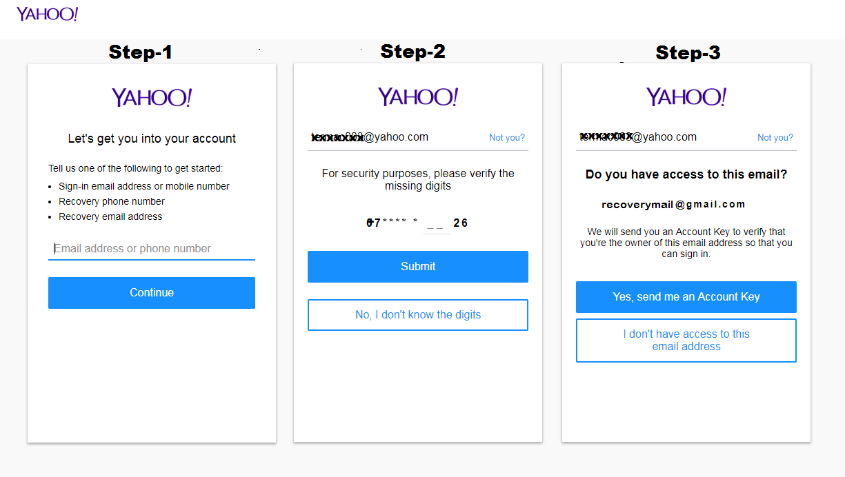 yahoo forgot password