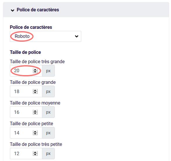 PDf - police de caracteres