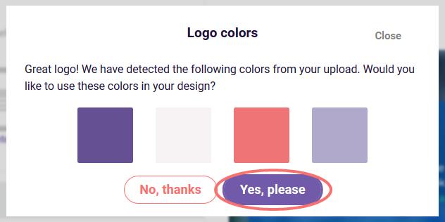 Edit Design Settings -  logo colors
