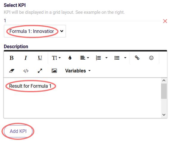 ReportR - formula ranking - select KPI