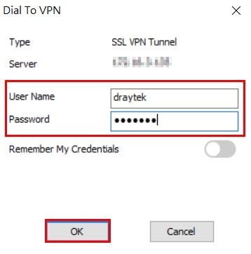 a screenshot of Smart VPN Client prompt for credentials
