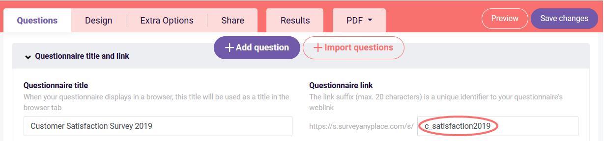 Integromat - survey link suffix