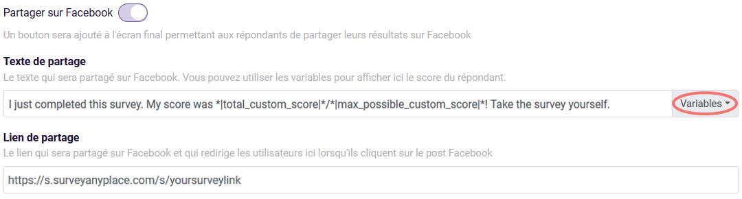 Conclusions - partager sur Facebook