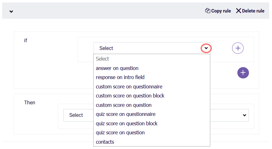 question logic - quiz score logic