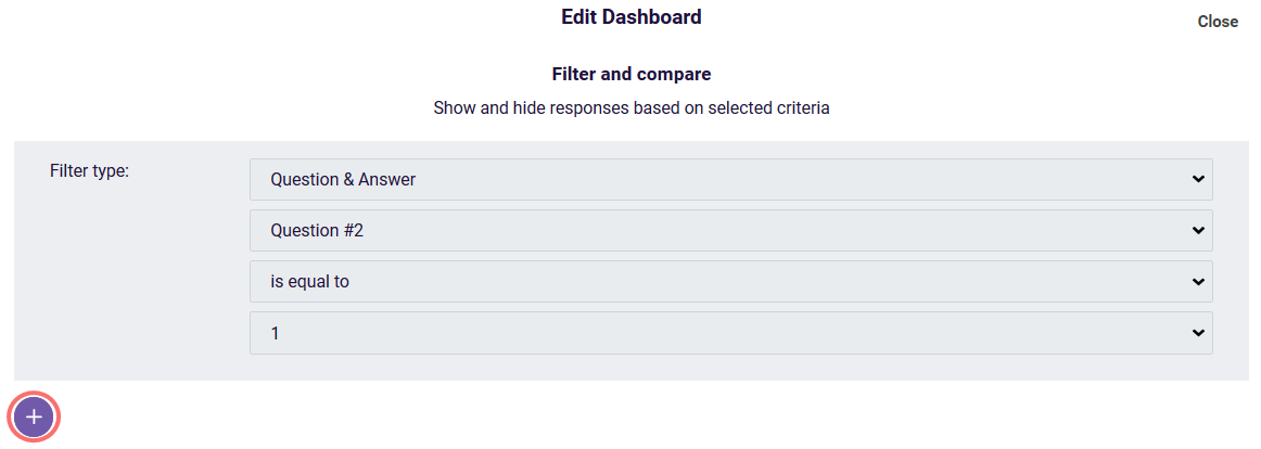share results - view filters