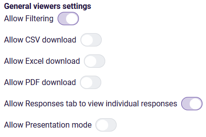 Shared dashboard - general viewer settings
