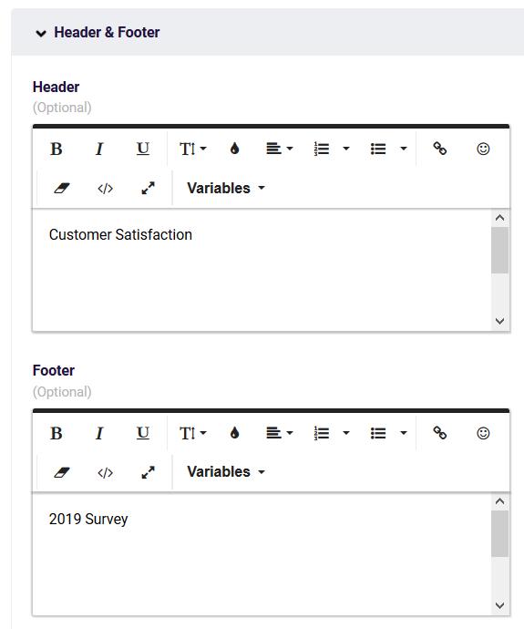 PDF Header Footer