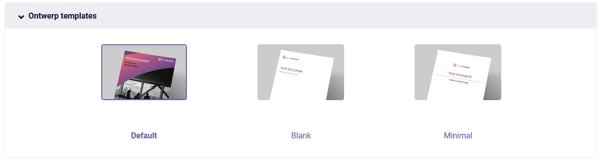 PDF Ontwerp templates