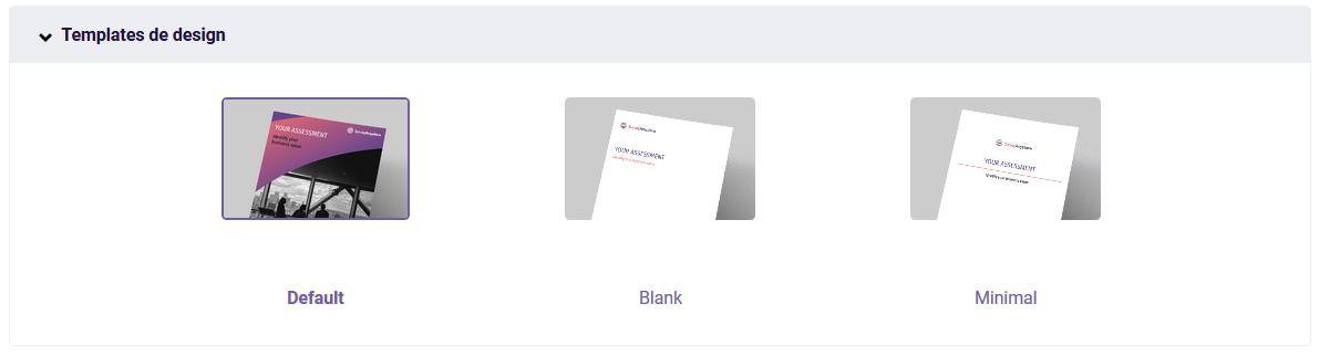 PDF Templates de design