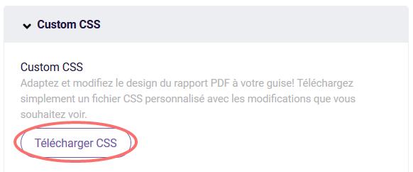 PDF - custom CSS
