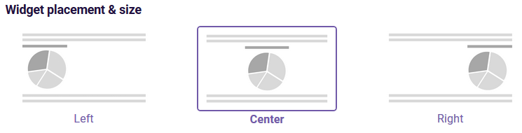 PDF Table widget placement