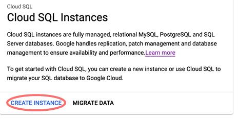 Cloud SQL Integration - create instance