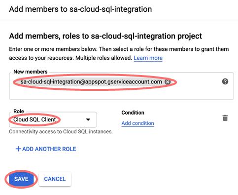 Cloud SQL member