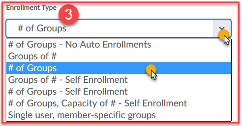 Set enrollment type.