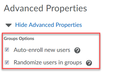 Advanced Properties