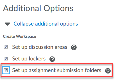 Set up assignment submission folders.