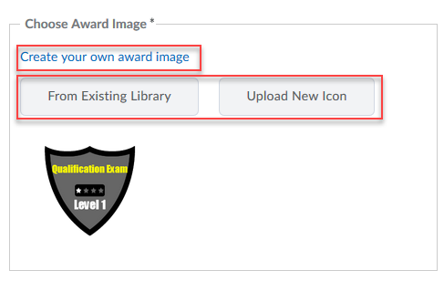 Choose image (Create, Upload, or Library)