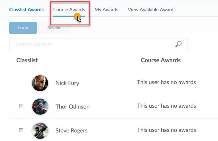 Click Course Awards