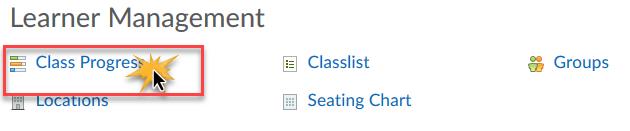 Click Class Progress