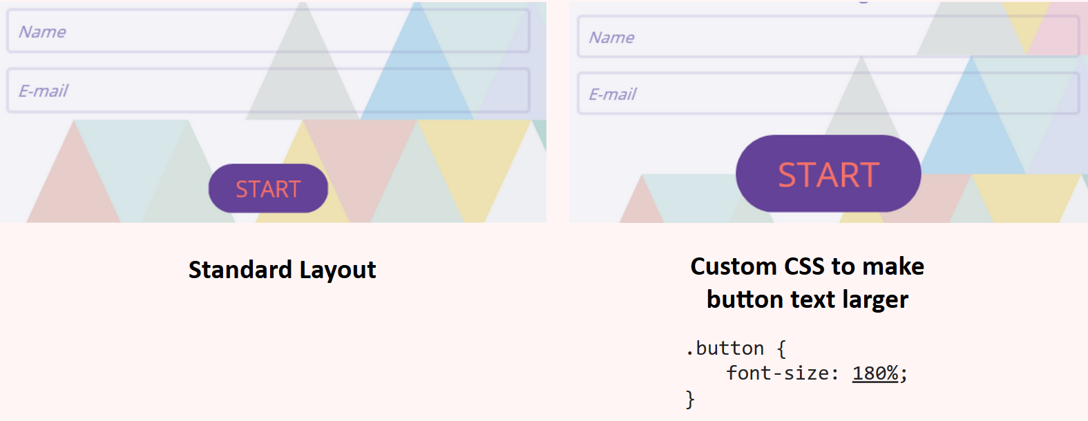 CSS larger button size