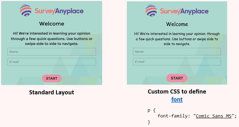 Custom CSS define font