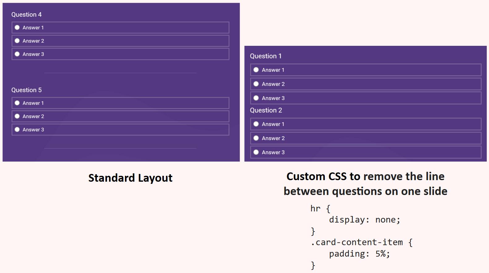 Custom CSS remove line spacing
