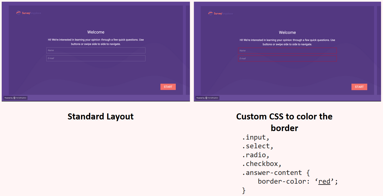 Custom CSS - color border