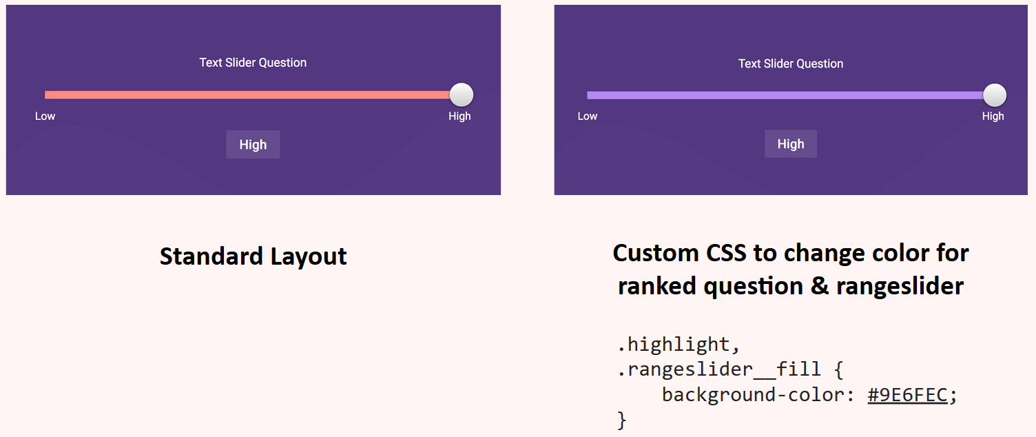 Custom CSS change slider color